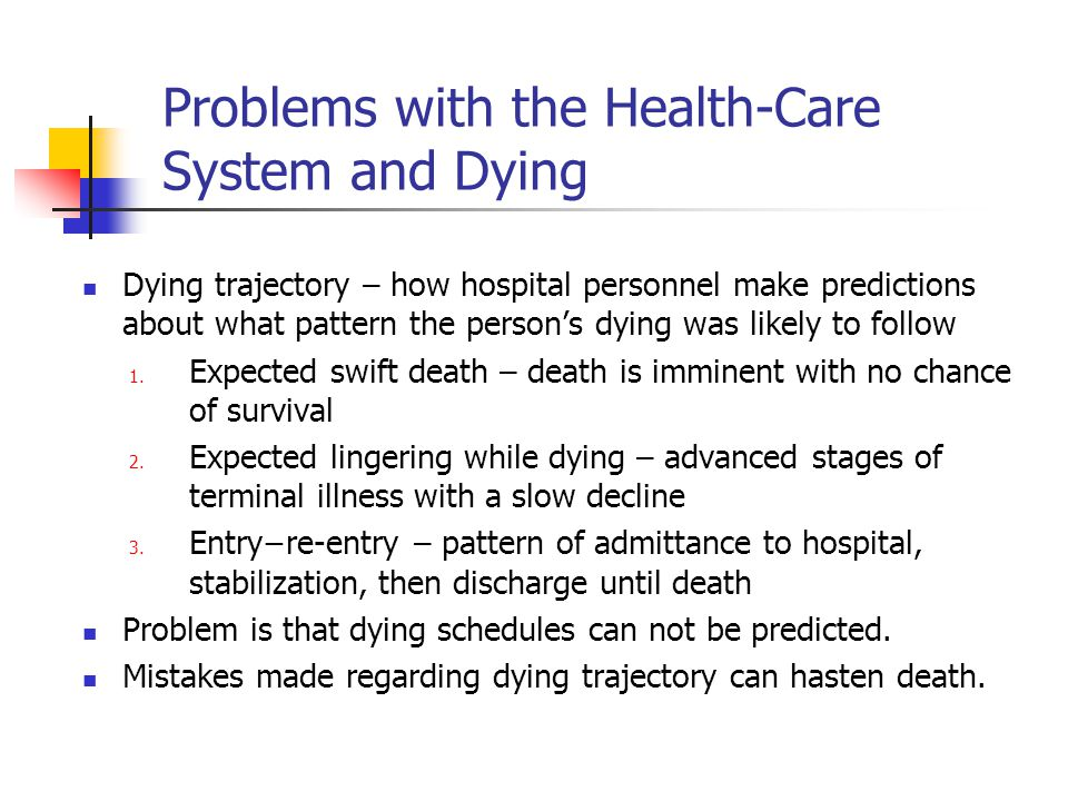 Problems with the Health-Care System and Dying