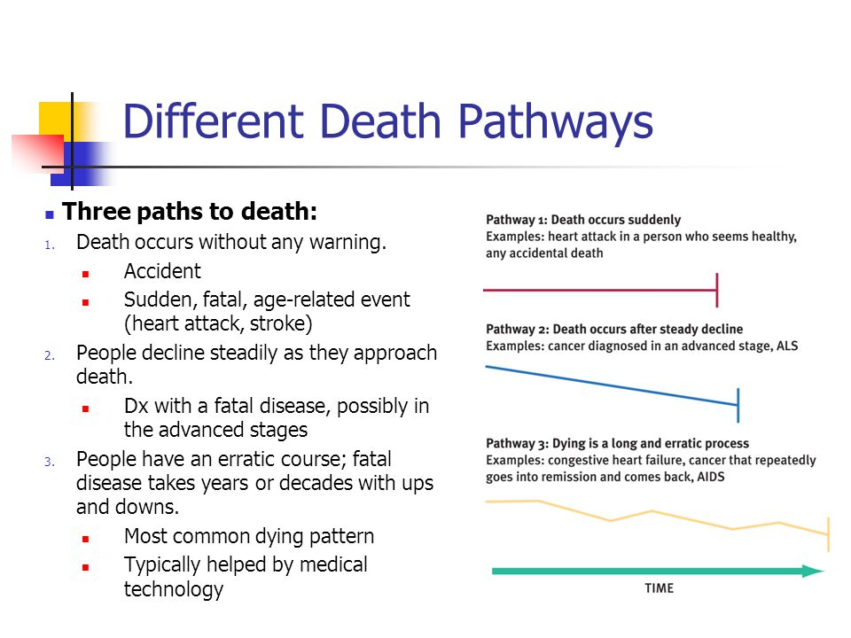 Different Death Pathways