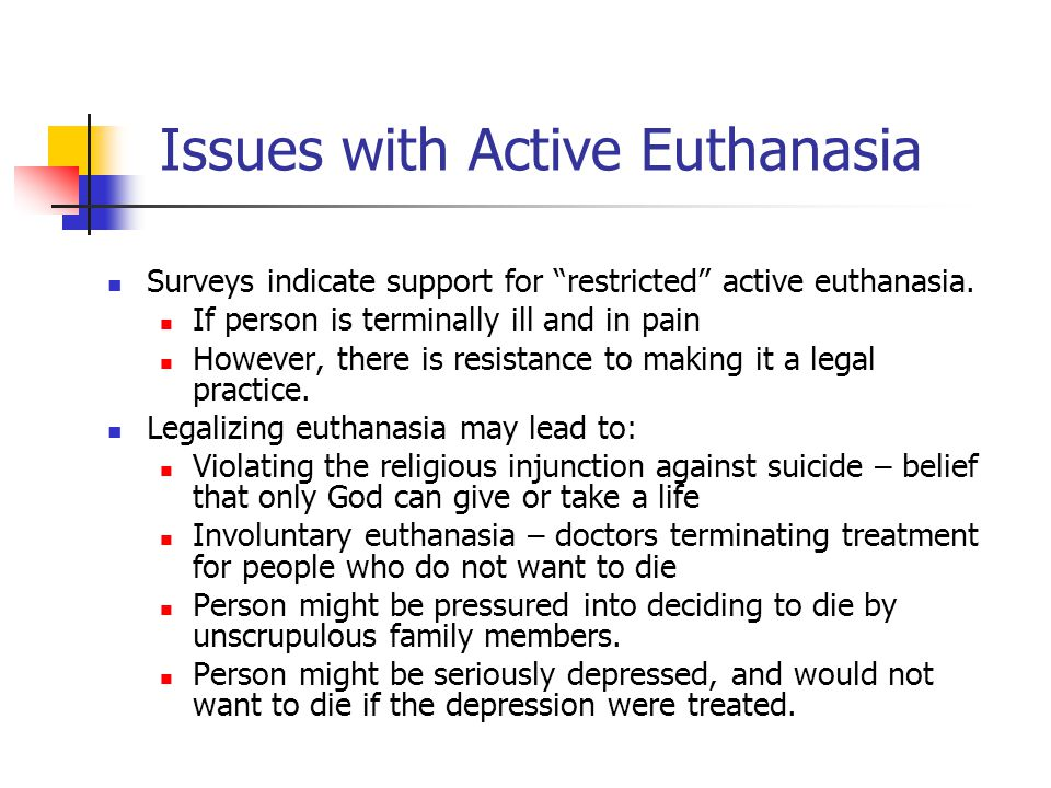 Issues with Active Euthanasia