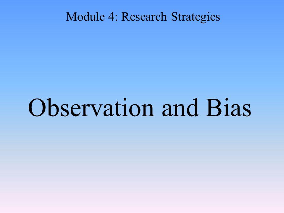 Module 4: Research Strategies