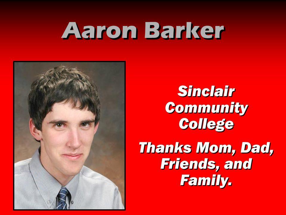 Aaron Barker Sinclair Community College