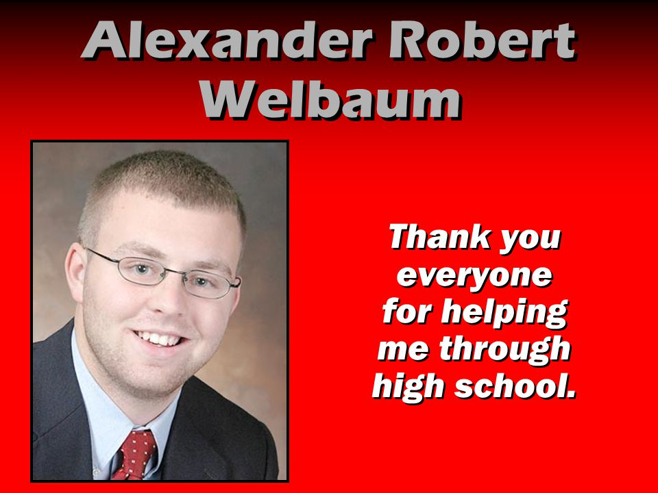 Alexander Robert Welbaum