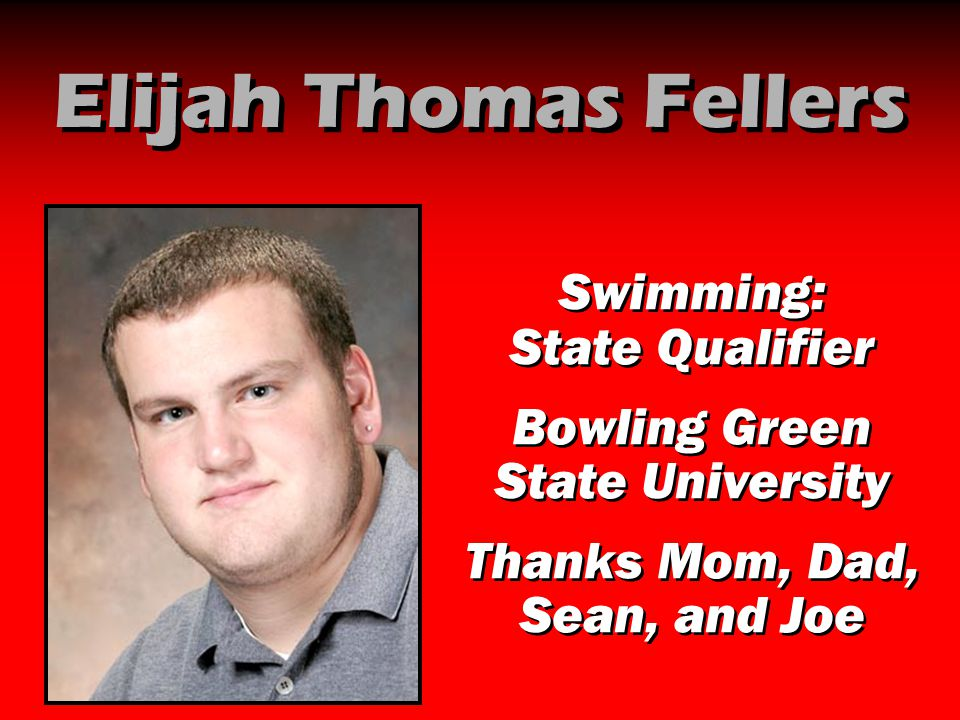 Elijah Thomas Fellers Swimming: State Qualifier