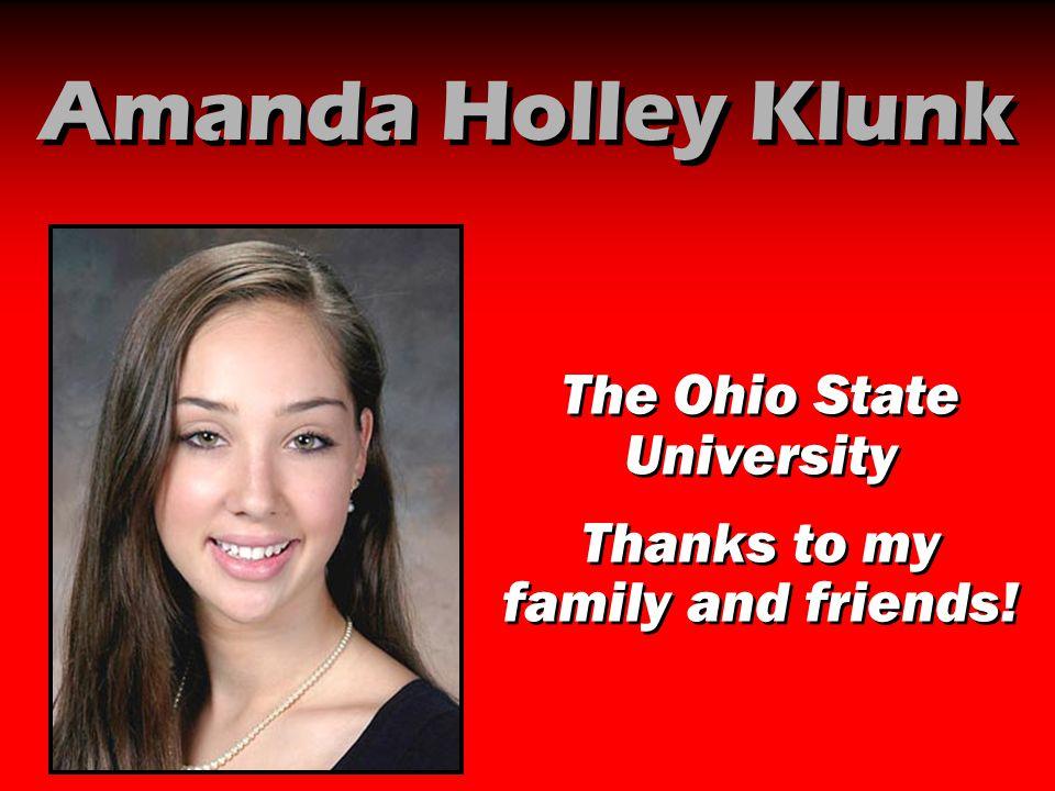 Amanda Holley Klunk The Ohio State University