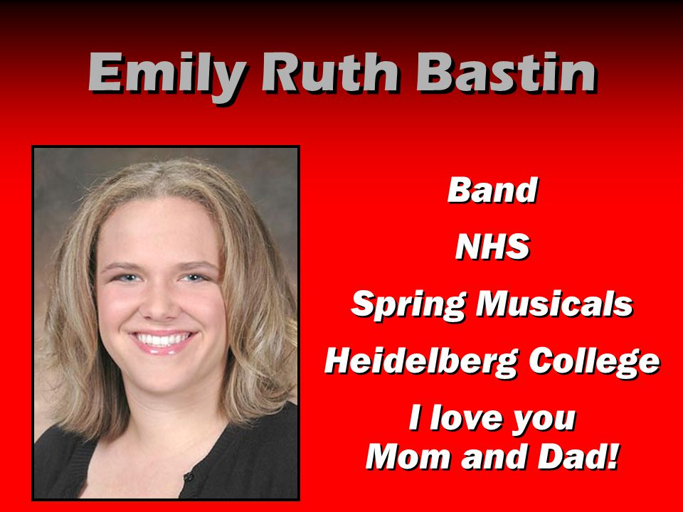 Emily Ruth Bastin Band NHS Spring Musicals Heidelberg College