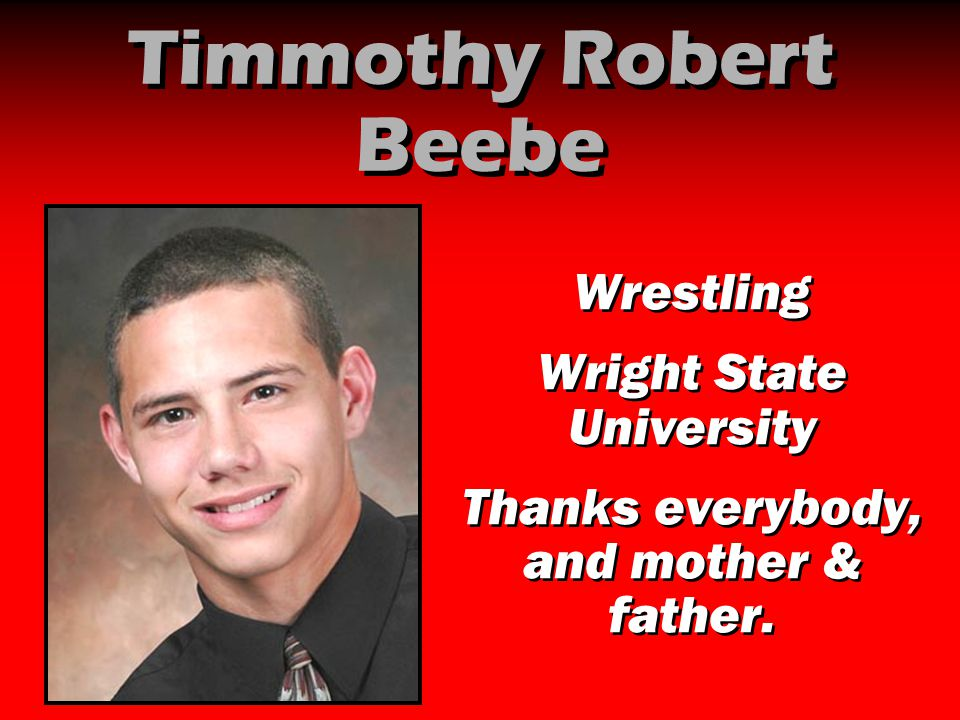 Timmothy Robert Beebe Wrestling Wright State University