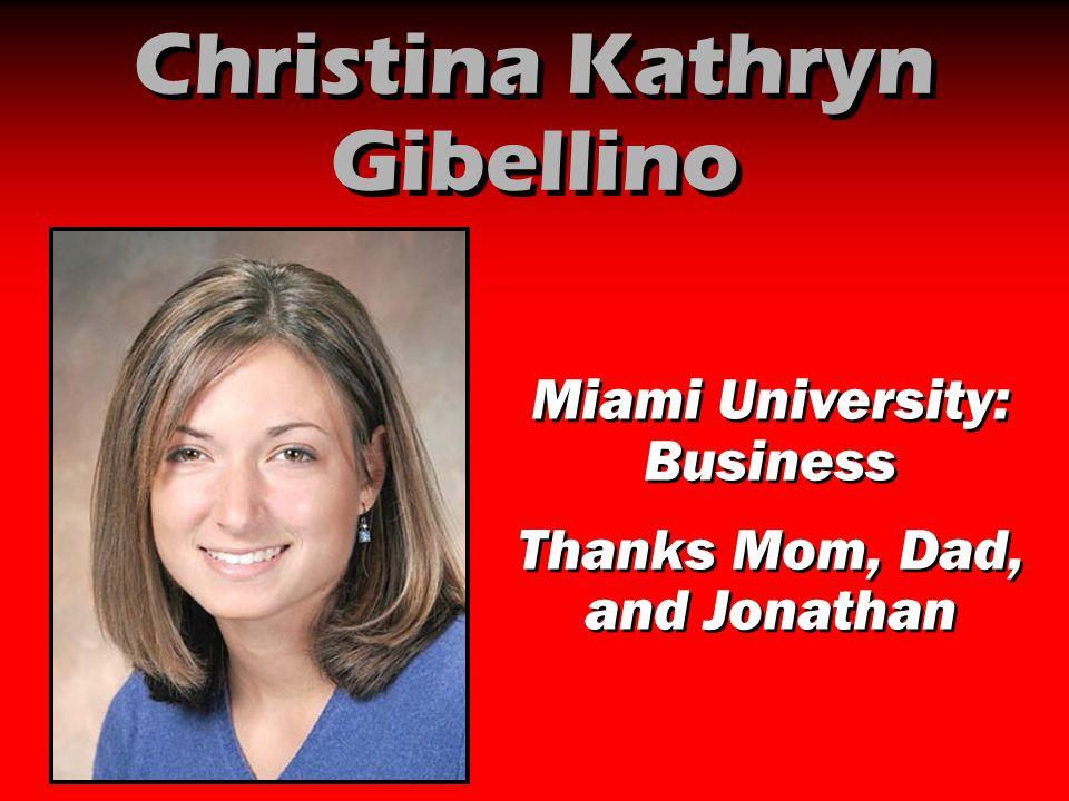 Christina Kathryn Gibellino