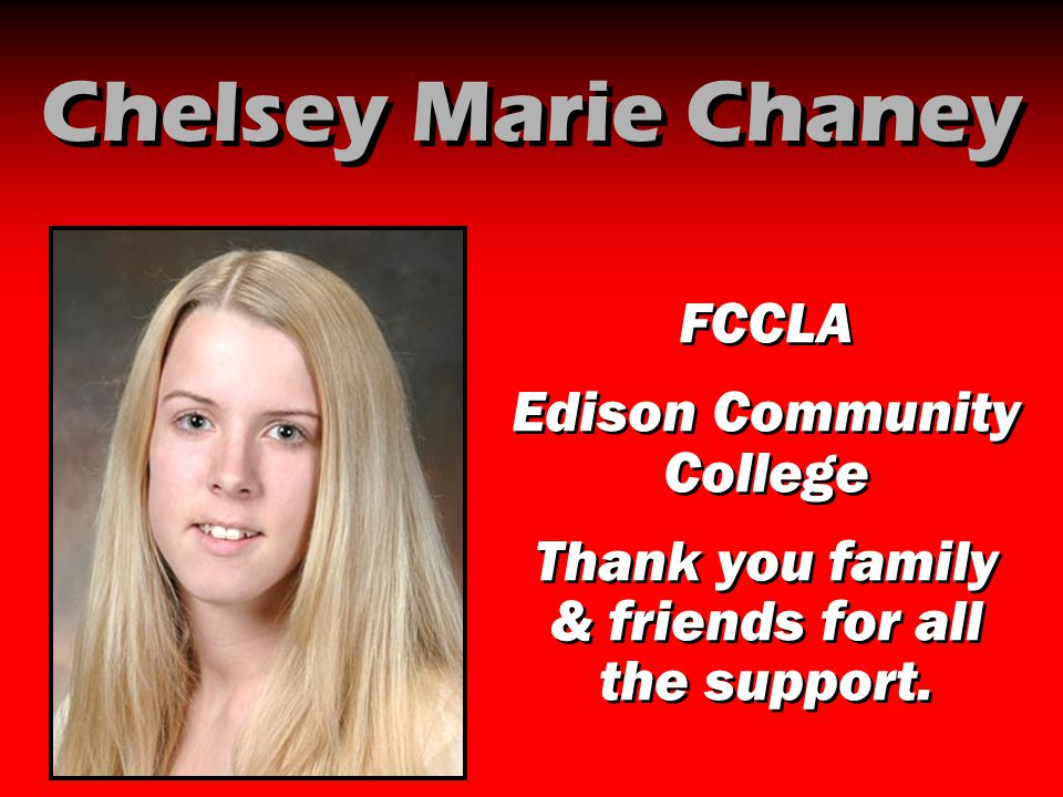 Chelsey Marie Chaney FCCLA Edison Community College