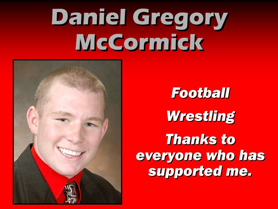 Daniel Gregory McCormick