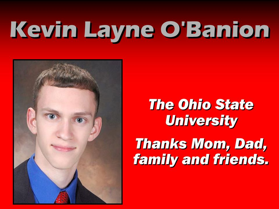 Kevin Layne O Banion The Ohio State University