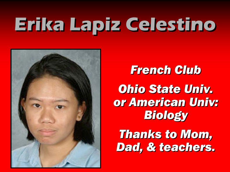 Erika Lapiz Celestino French Club