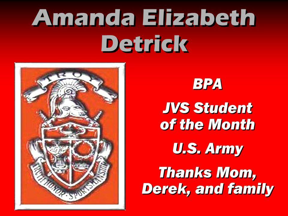 Amanda Elizabeth Detrick