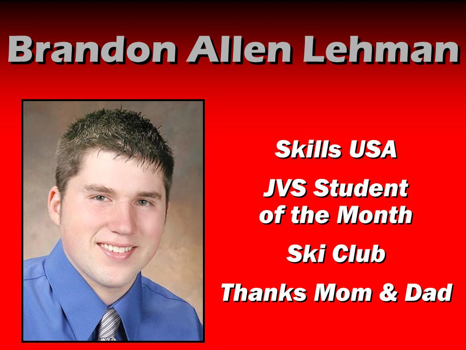 JVS Student of the Month
