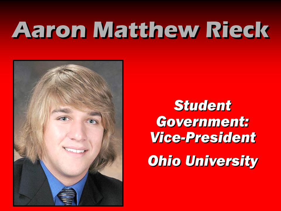 Student Government: Vice-President