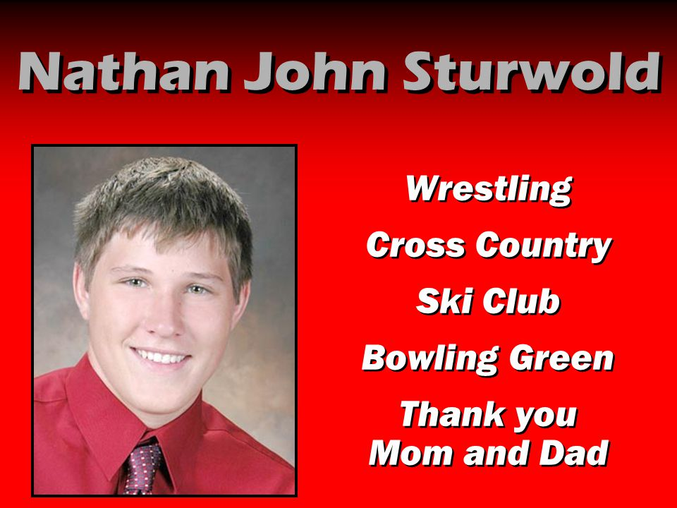 Nathan John Sturwold Wrestling Cross Country Ski Club Bowling Green