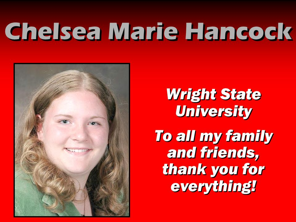 Chelsea Marie Hancock Wright State University