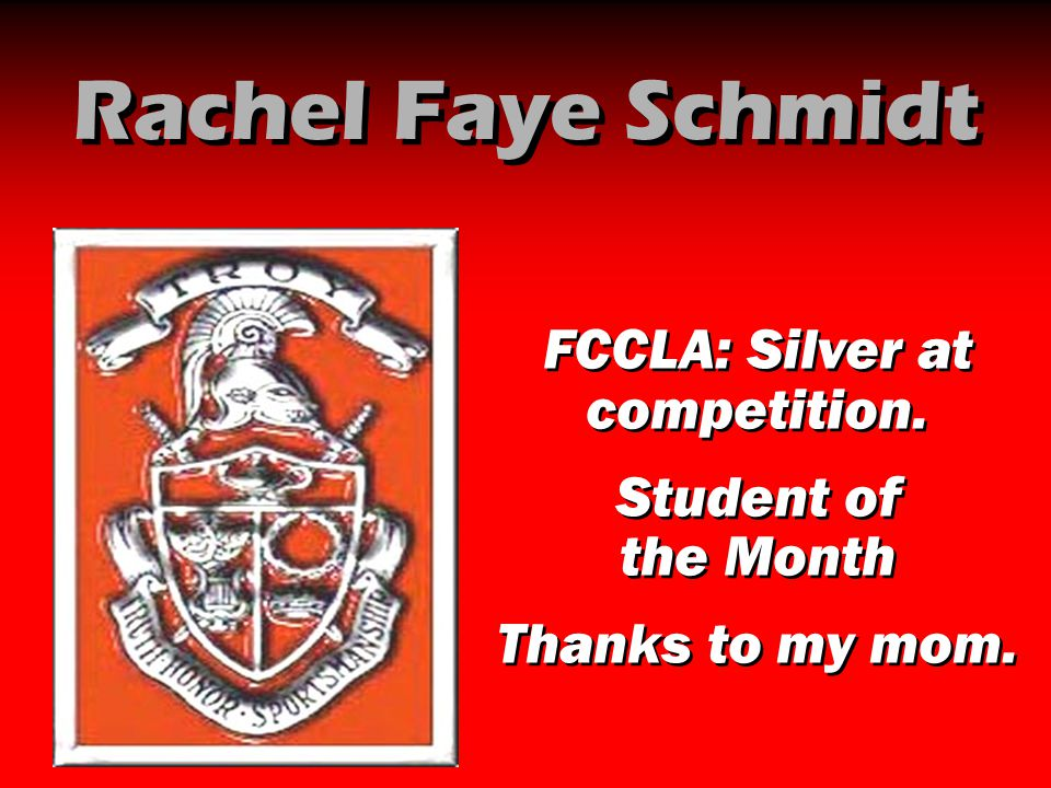 FCCLA: Silver at competition.