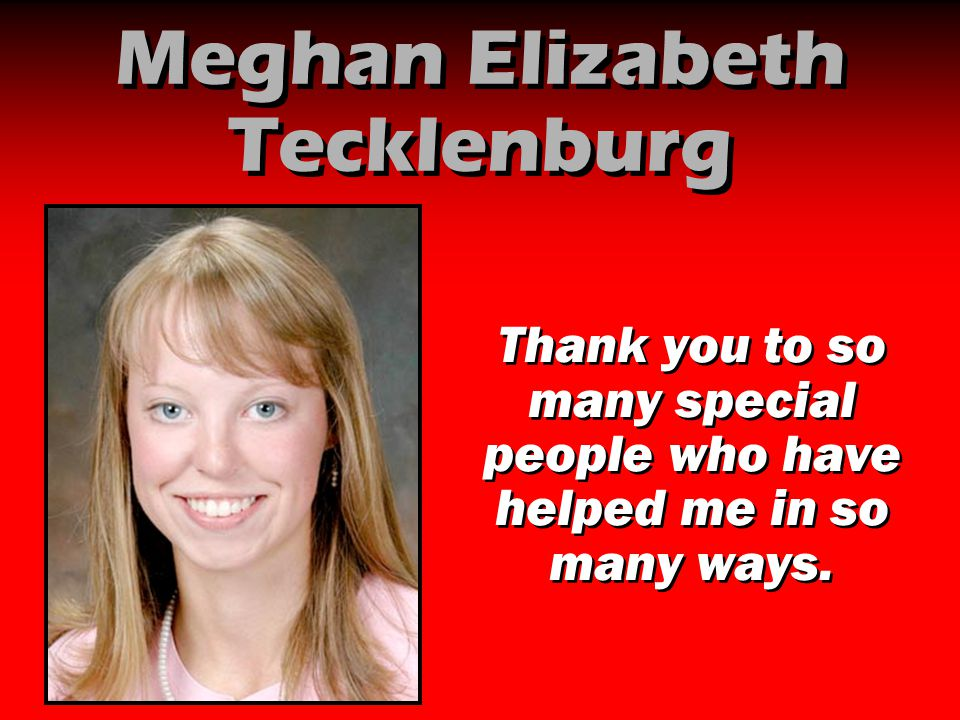 Meghan Elizabeth Tecklenburg