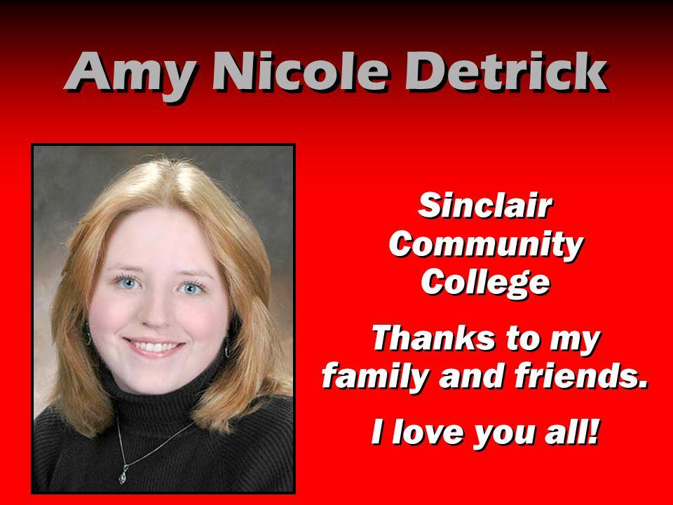 Amy Nicole Detrick Sinclair Community College