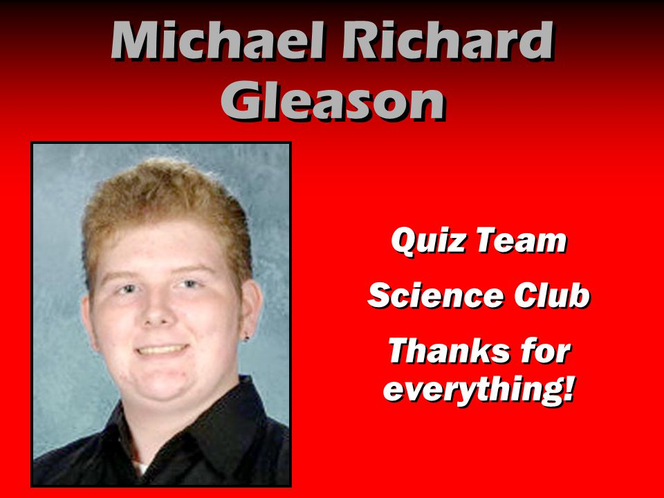 Michael Richard Gleason