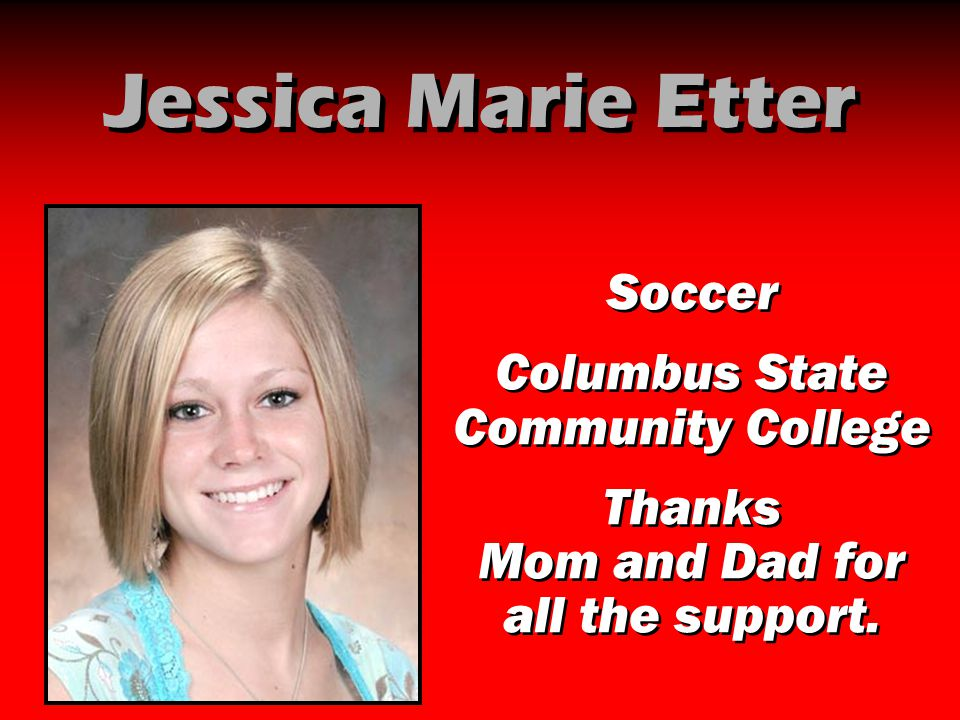 Jessica Marie Etter Soccer Columbus State Community College