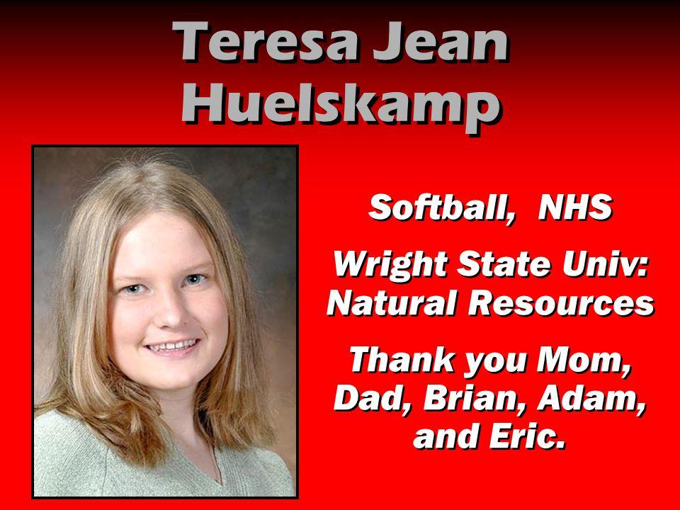 Teresa Jean Huelskamp Softball, NHS