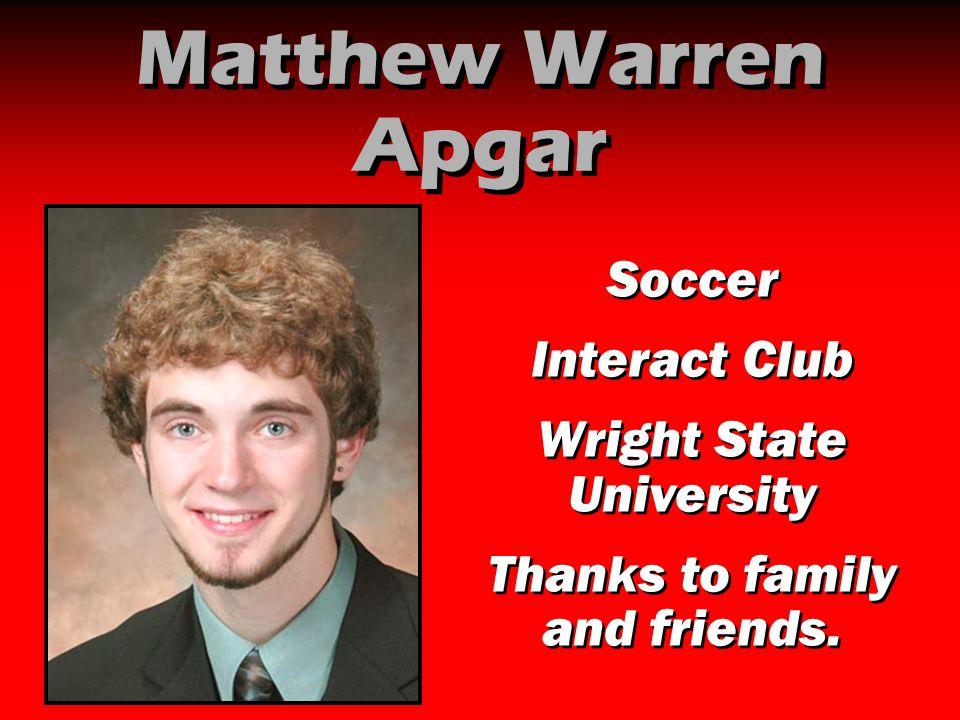 Matthew Warren Apgar Soccer Interact Club Wright State University