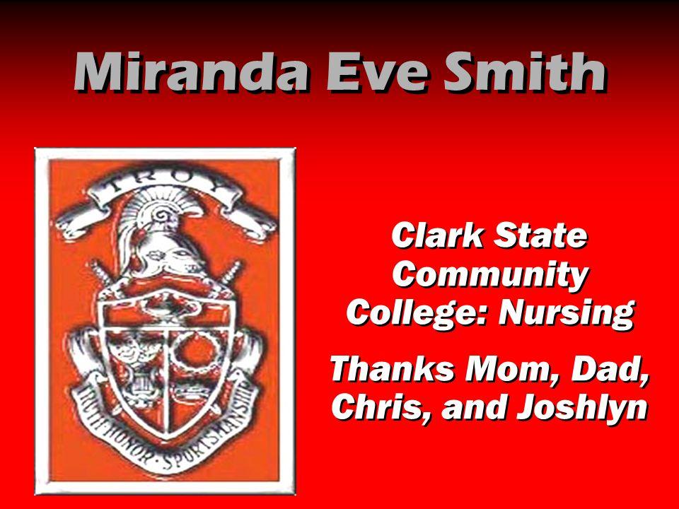 Miranda Eve Smith Clark State Community College: Nursing