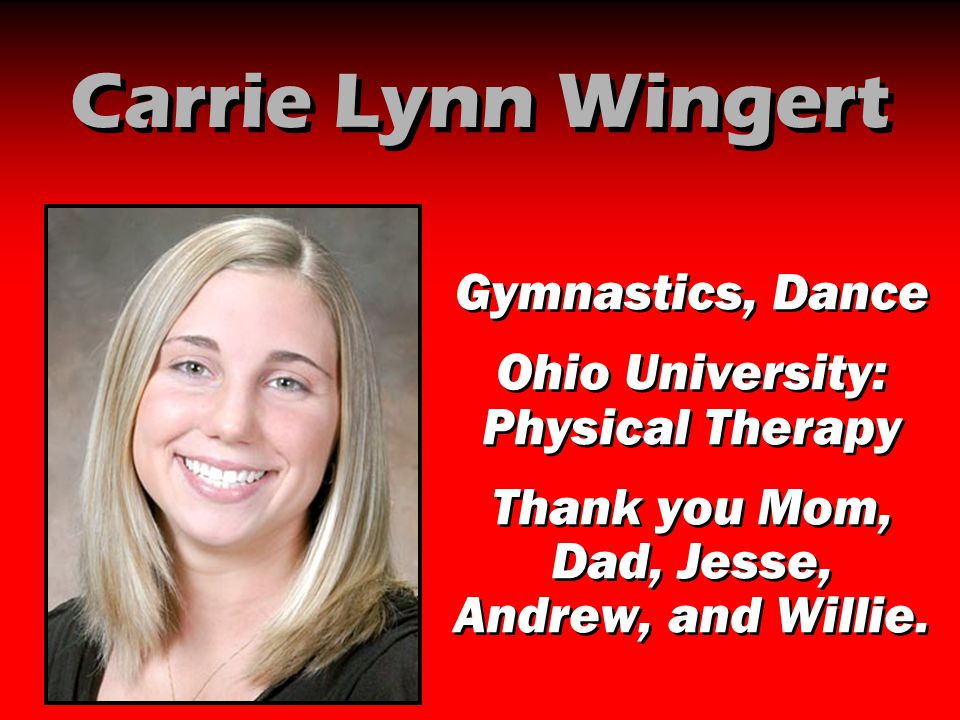 Carrie Lynn Wingert Gymnastics, Dance