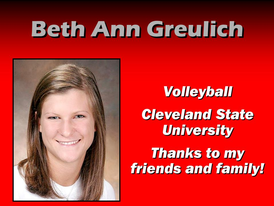Beth Ann Greulich Volleyball Cleveland State University