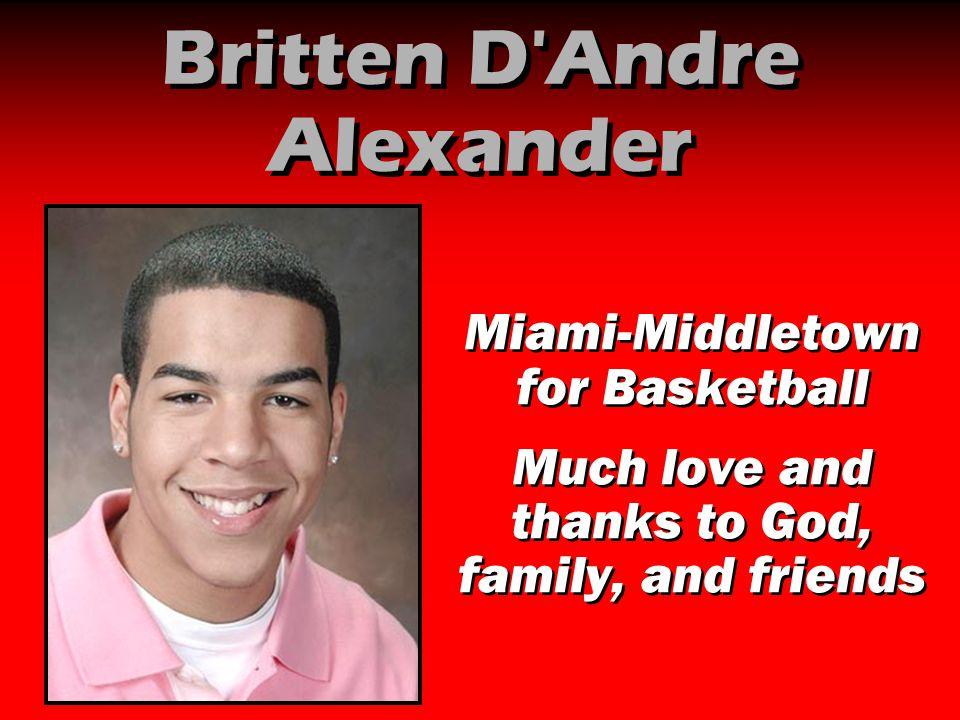 Britten D Andre Alexander