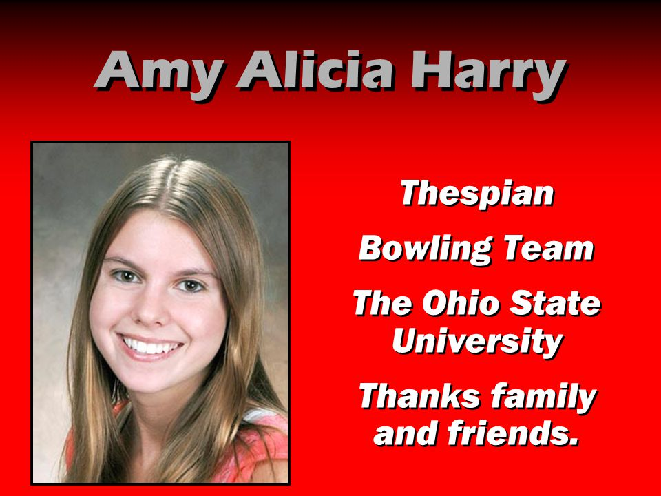Amy Alicia Harry Thespian Bowling Team The Ohio State University