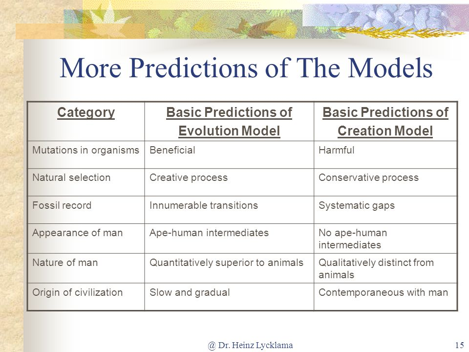 More Predictions of The Models