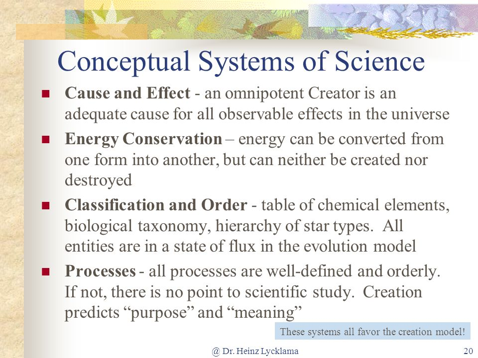 Conceptual Systems of Science