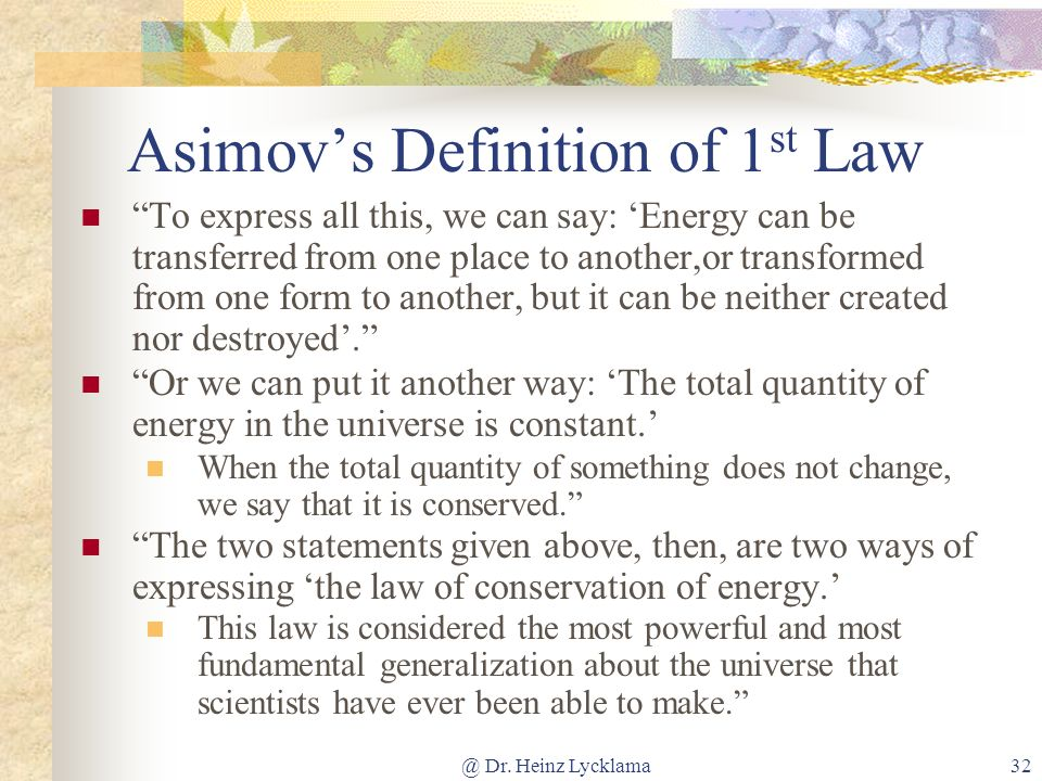 Asimov's Definition of 1st Law