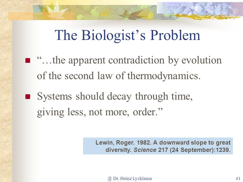 The Biologist's Problem