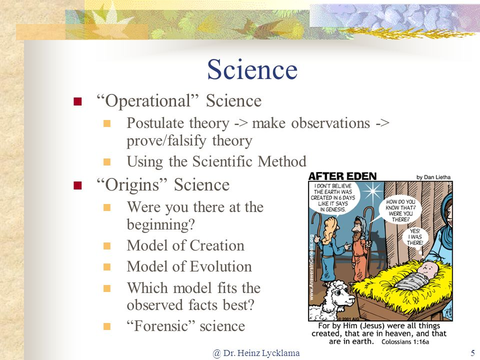 Science Operational Science Origins Science