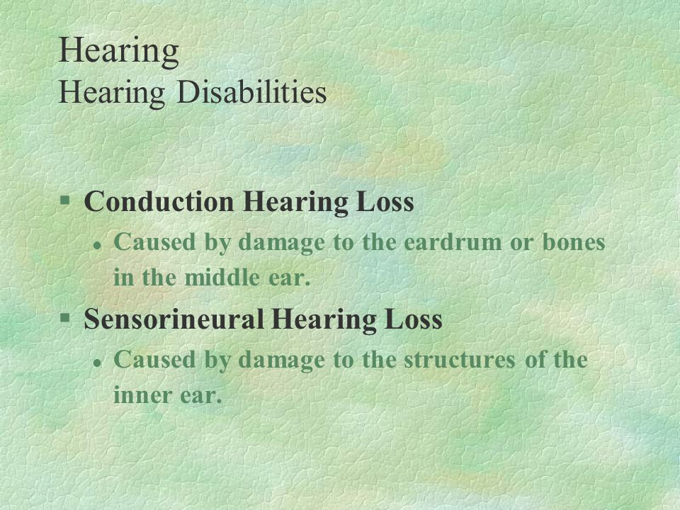 Hearing Hearing Disabilities