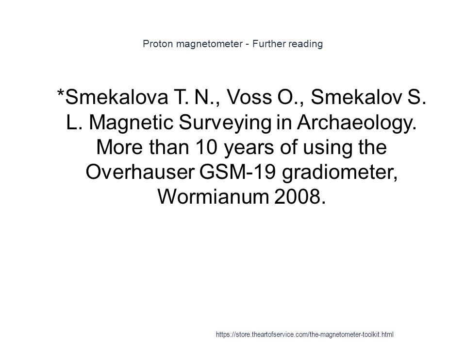 Proton magnetometer - Further reading