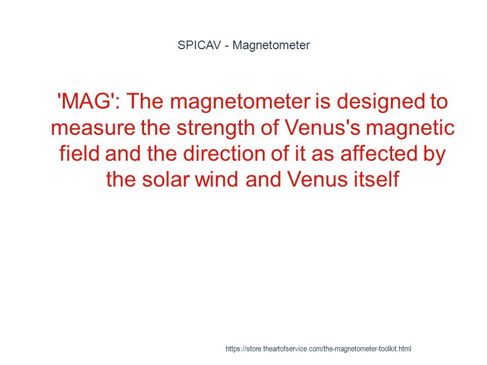 SPICAV - Magnetometer
