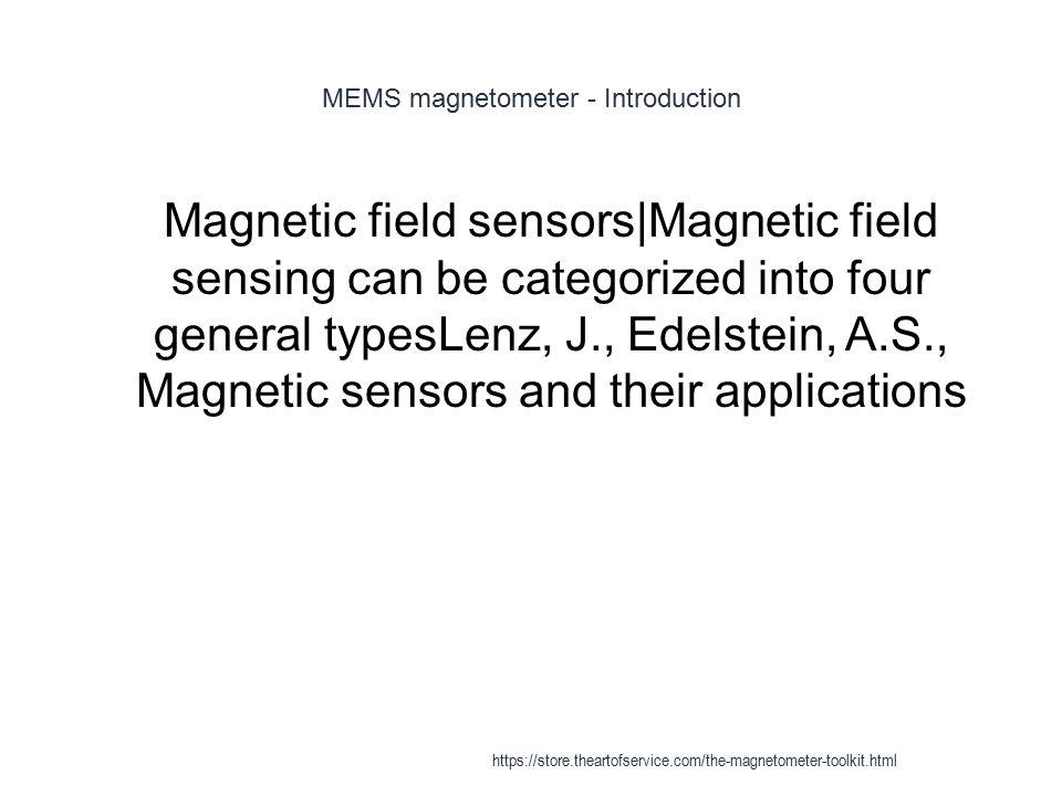 MEMS magnetometer - Introduction