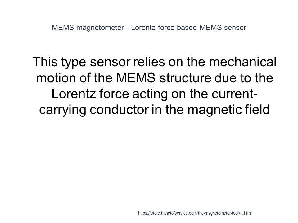 MEMS magnetometer - Lorentz-force-based MEMS sensor