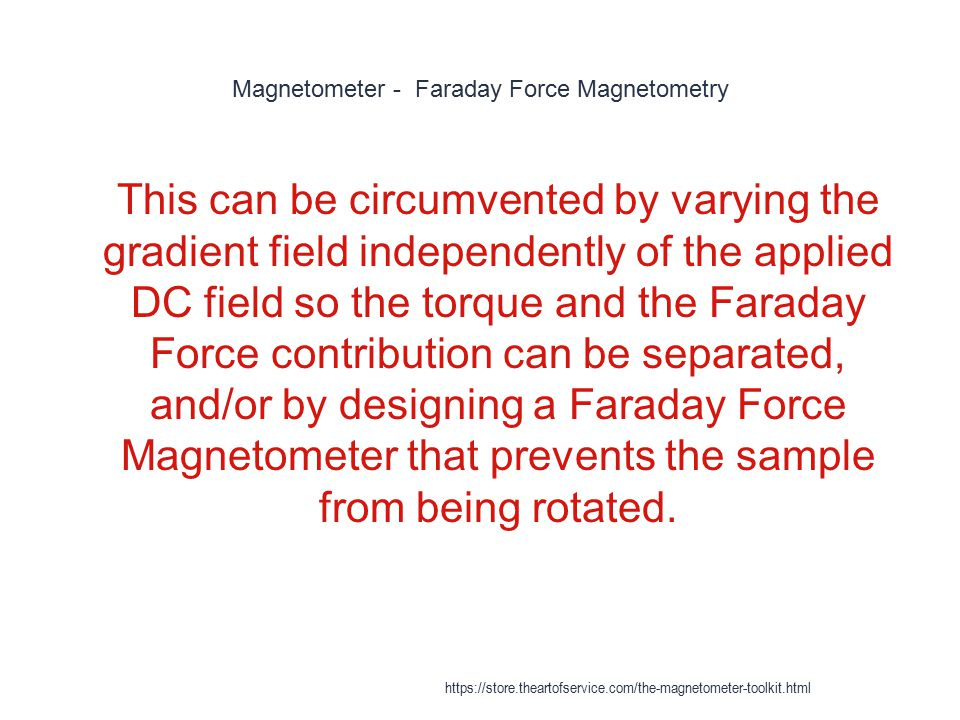 Magnetometer - Faraday Force Magnetometry