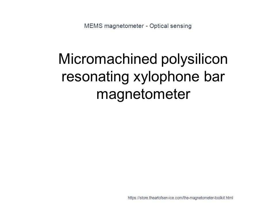MEMS magnetometer - Optical sensing