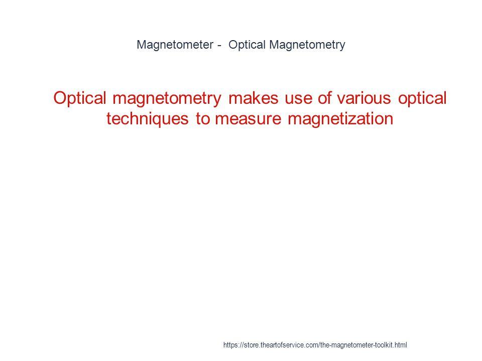 Magnetometer - Optical Magnetometry