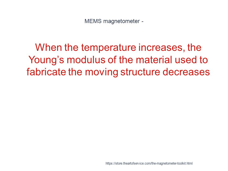 MEMS magnetometer - When the temperature increases, the Young's modulus of the material used to fabricate the moving structure decreases.