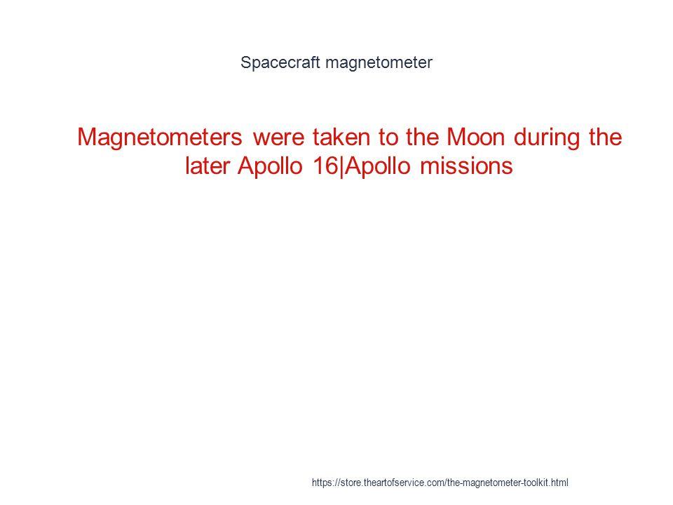 Spacecraft magnetometer