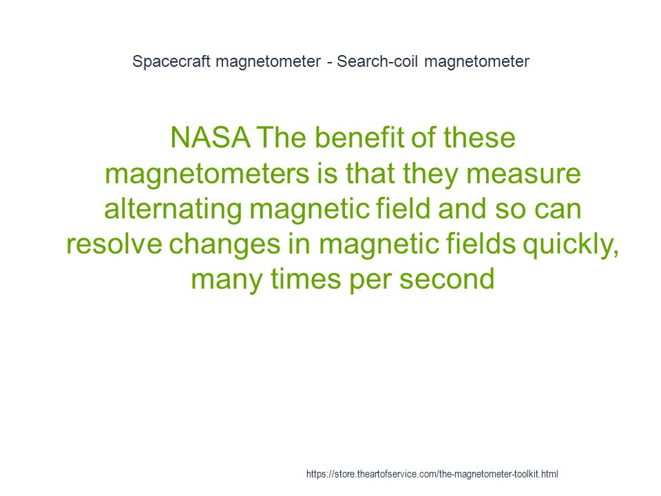 Spacecraft magnetometer - Search-coil magnetometer