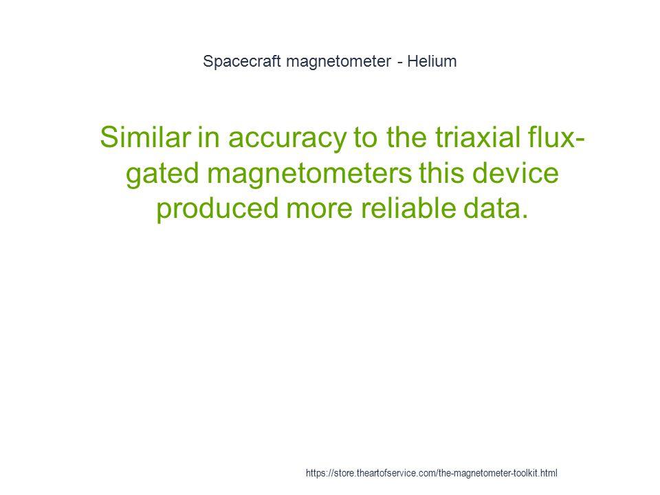 Spacecraft magnetometer - Helium