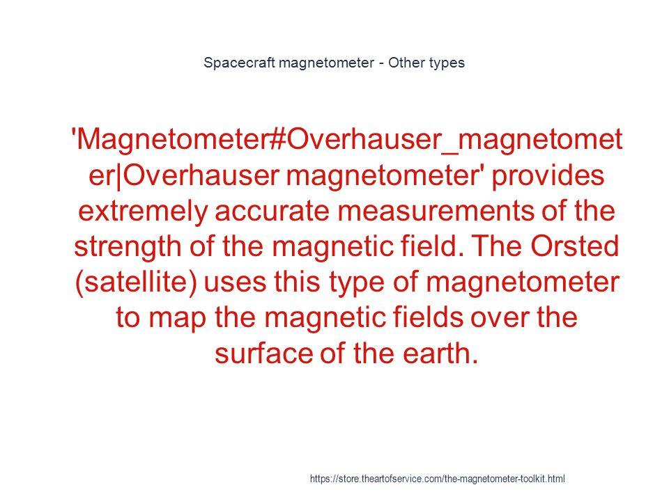Spacecraft magnetometer - Other types